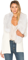 Central Park West Biarritz Fox Fur Cardigan