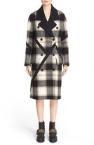 Burberry Prorsum Tartan Plaid Wool Coat