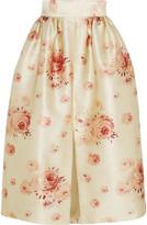 Vilshenko Reda floral-print satin skirt
