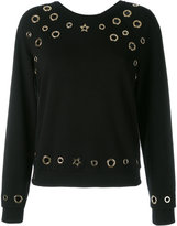 Philipp Plein rivet sweatshirt - women - Cotton/Spandex/Elastane/zamac - S
