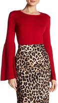 Vince Camuto Ribbed Bell Sleeve Knit Tee