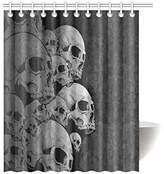 Superhaliluya BravoVision Fashion Custom Paisley Skulls Waterproof Fabric Bath Shower Curtain