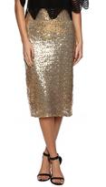 SkirtsRule Gold Sequin Midi Skirt