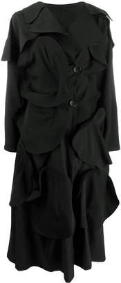 Yohji Yamamoto asymmetric textured coat