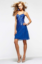 Faviana s7220 Beaded Chiffon A-line Dress