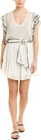 IRO Embroidered Silk-Blend Dress