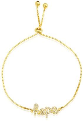 ADORNIA 14K Gold Vermeil Hope Bolo Bracelet