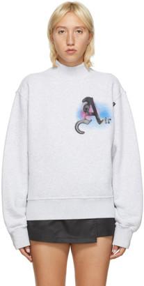 Palm Angels Grey Air Mock Neck Sweatshirt