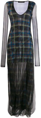 Y/Project sheer check dress