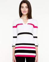 Le Château Stripe V-Neck Sweater