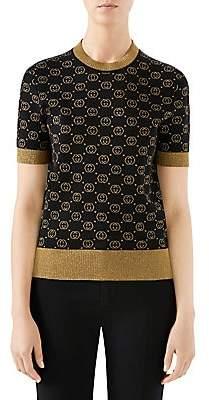 Gucci Women's Fine Wool Knit GG Lurex Sweater