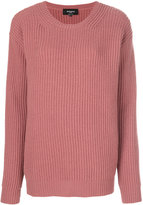 Rochas oversized ribbed sweater