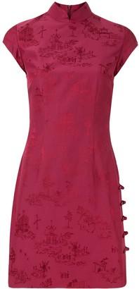 Shanghai Tang Chinoiserie Jacquard Qipao dress