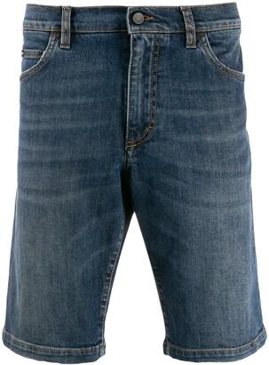 Dolce & Gabbana Logo Patch Denim Shorts