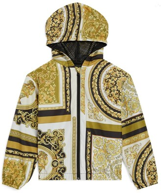 Versace Kids Baroque Print Zip-Up Hoodie