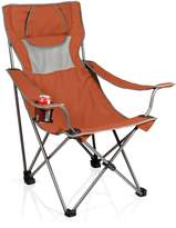 Picnic Time Burnt Orange/Grey Campsite Chair