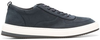 Corneliani Leather Lace-Up Sneakers