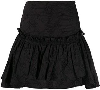 Wandering Flounce Ruffle Mini Skirt
