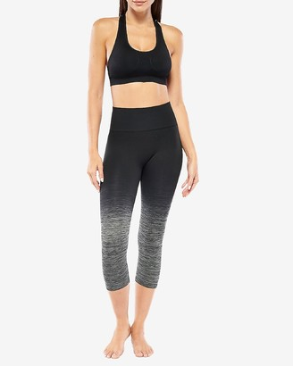 Express Electric Yoga High Waisted Ombre Cropped Leggings