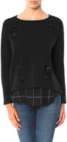 Generation Love Brooklyn Double Layer Sweatshirt with Plaid