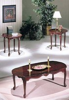 Acme 02402 Essex Coffee/End Table Set, 3-Piece, Cherry Finish