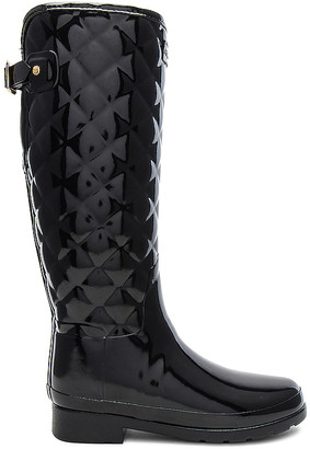 Hunter Refined Gloss Quilt Tall Boot