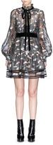 Marc Jacobs Licorice lamé fil coupé balloon sleeve organza dress
