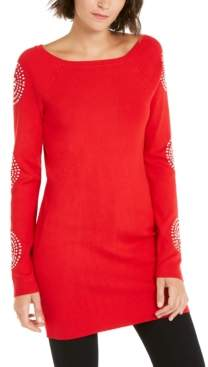 INC International Concepts Inc Petite Medallion-Sleeve Tunic, Created For Macy's