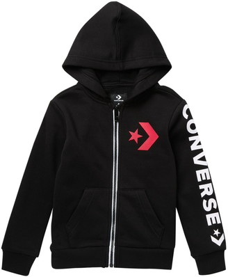 Converse Star Chevron Full Zipper Hooded Sweatshirt