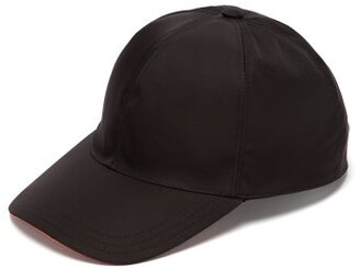 Prada Logo-applique Nylon Cap - Mens - Black Orange