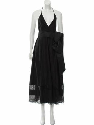 No. 21 X Kartell Halter Sleeveless Dress Black