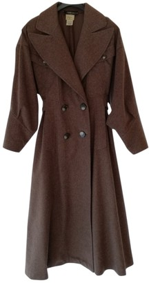 Fendi Brown Wool Coat for Women Vintage