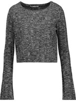 Autumn Cashmere Marled Ribbed-Knit Cashmere Sweater