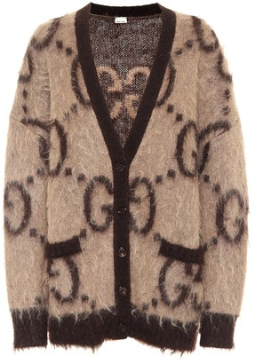 Gucci GG reversible mohair-blend cardigan