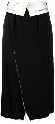 Ambush Folded Waist Wrap Skirt