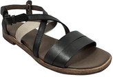 Gee WaWa Black & White Glenda Leather Sandal