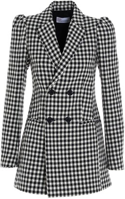 RED Valentino Checked Double-Breasted Blazer