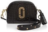 Marc Jacobs Shutter Croc-Embossed Leather Camera Bag
