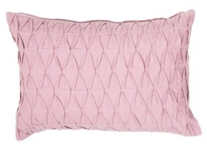 """Jaipur Living Sonali Pink Solid Down Throw Pillow 14"""" x 20"""""""