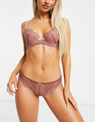 Gossard Superboost lace thong in rose pink