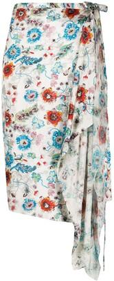 Gianfranco Ferré Pre-Owned 1990s Floral Wrap Skirt