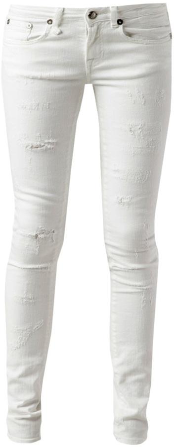 R 13 distressed skinny jean