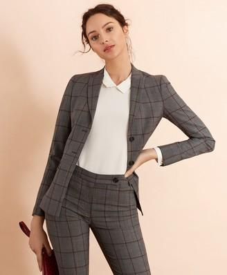 Brooks Brothers Plaid Stretch-Wool Jacket