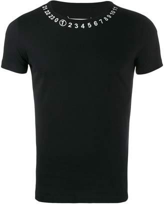 Maison Margiela number print crew neck T-shirt