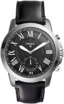 Fossil Q Grant Leather-Strap Hybrid Smart Watch