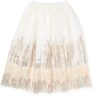 Billieblush Embroidered & Sequined Skirt