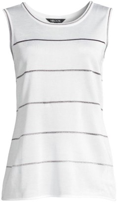 Misook Ombre Striped Knit Tank Top