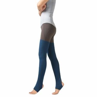 JURTEE Woman Thigh Knitted Leg Warmers Yoga Socks Boot Cover Leggings Slouch Boot Socks(M