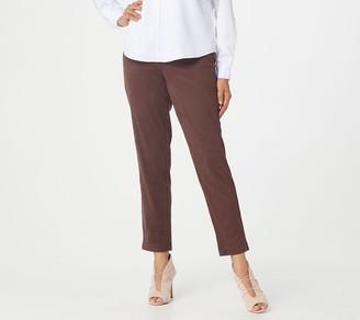 Bob Mackie Regular Slim-Leg Faux Suede Pants