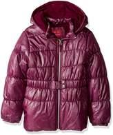 Pink Platinum Little Girl's Hot Spray Foil Puffer Outerwear